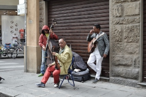 July 2013- A group of street musicians, known as Romdraculus play by the Duomo in Florence, Italy. Their music is all instrumental and carries on a tradition of mid-century jazz, with an Italian twist.